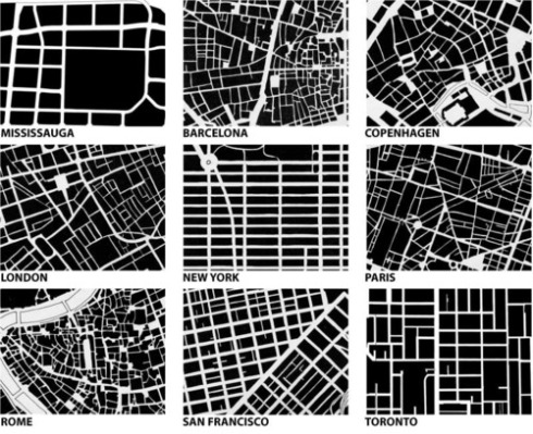 The Grid Structure of world cities