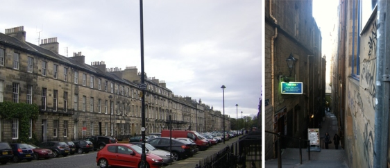 Edinburgh Old Town versus New Town