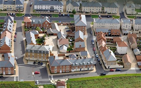 Poundbury Dorset UK from the sky.