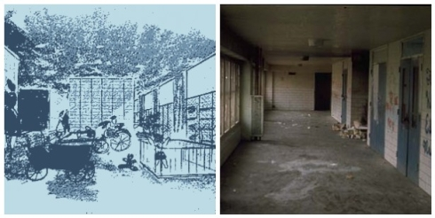 Minoru Yamasaki - hallways of Pruitt Igoe