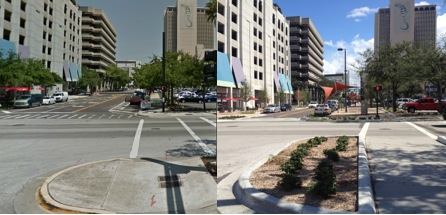 pedestrian crossings downtown tampa