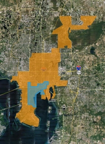 Tampa city limits downtown
