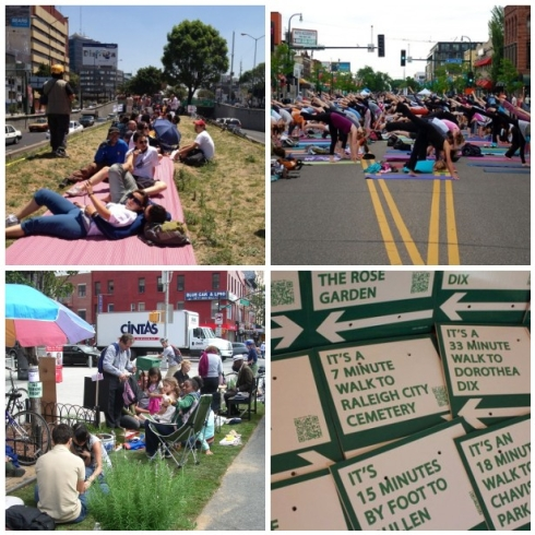 Examples of tactical urbanism across the country where people are taking back their public space.