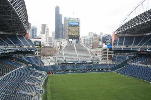 View of Seattle skyline from Century Link Field
