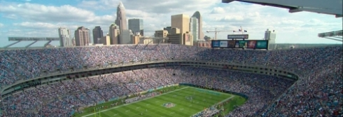 Charlotte skyline from Bank of America stadium
