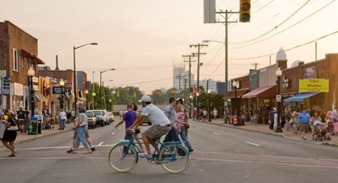Plaza Midwood: one of the historic neighborhoods adjacent to the center city. (Image Source: ui.uncc.edu)