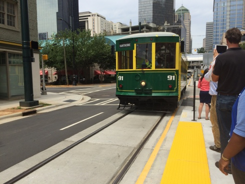 The CityLynx Gold Line's first ride open to the public.